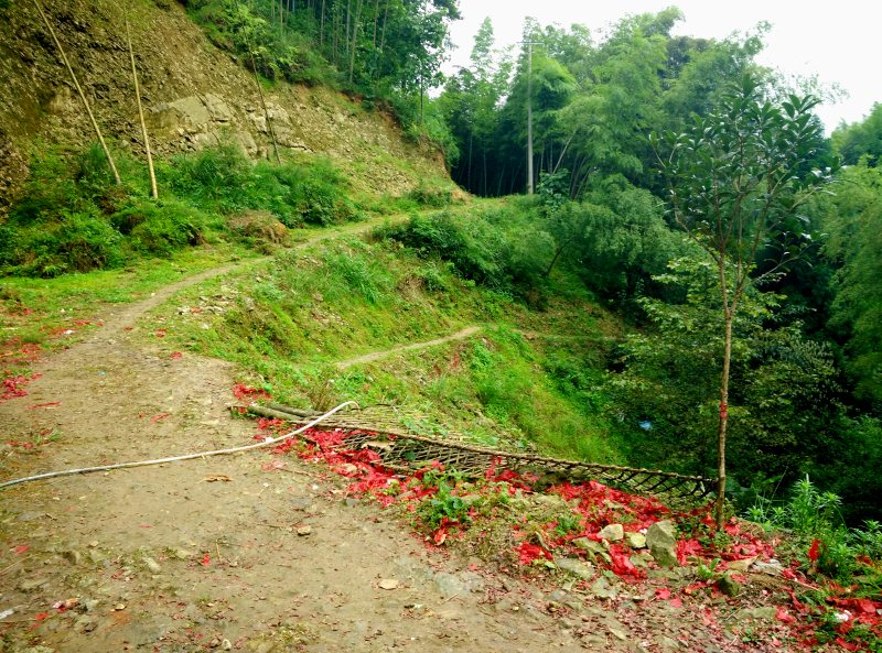 Hiking Dazhai to Pingan at Dragons Backbone Rice Terraces in China