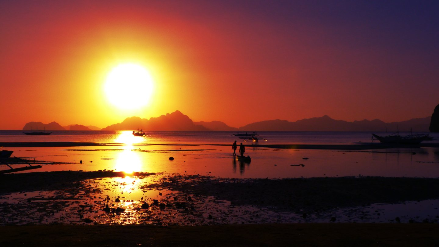 Secret Sunset in El Nido Palawan Philippines