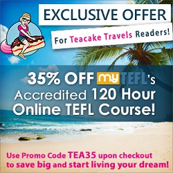 Teacake Travels MyTEFL Offer