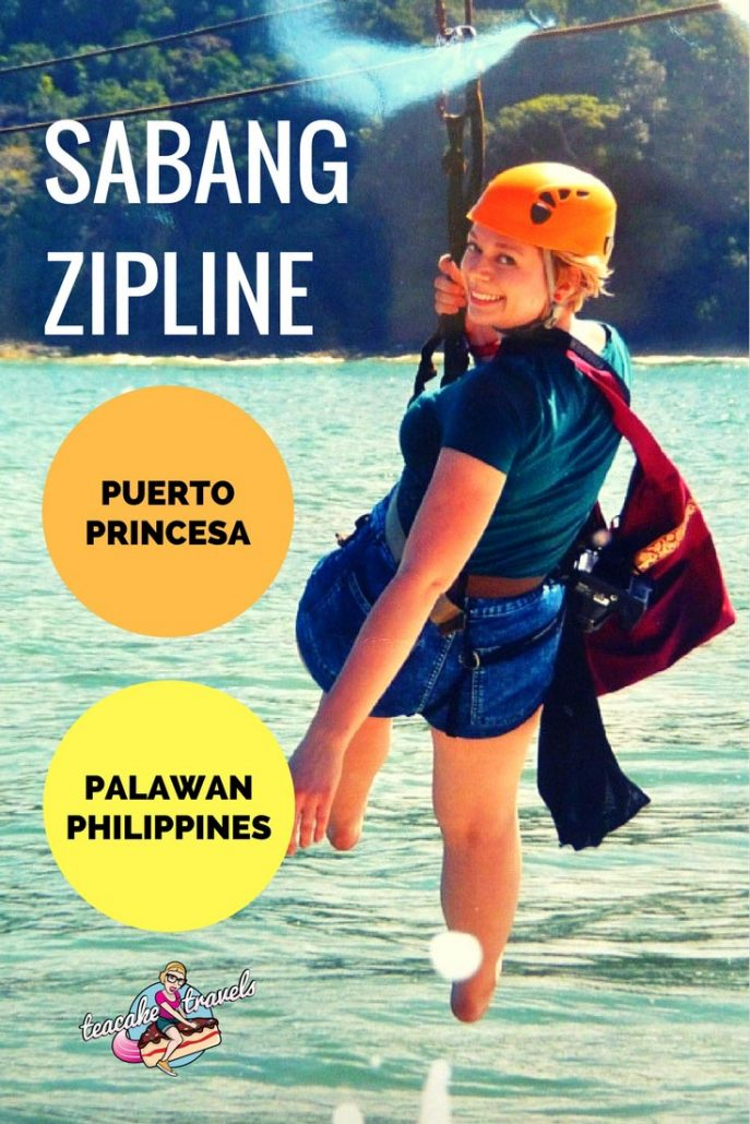 How to ride the Sabang X Zipline on your Sabang Adventure Tour, including the Puerto Princesa Underground River and Mangrove Paddle Boat Tour #travel #philippines #palawan #puertoprincesa