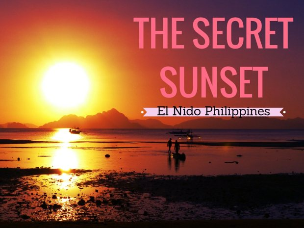 Secret Sunset in El Nido Palawan Philippines
