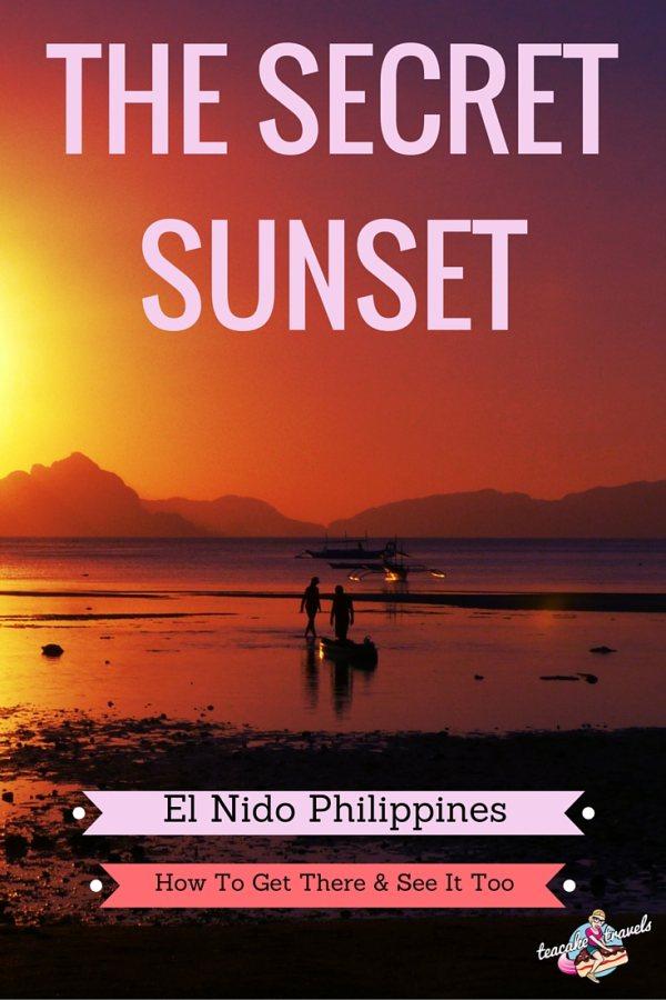 The Secret Sunset in El Nido Palawan Philippines