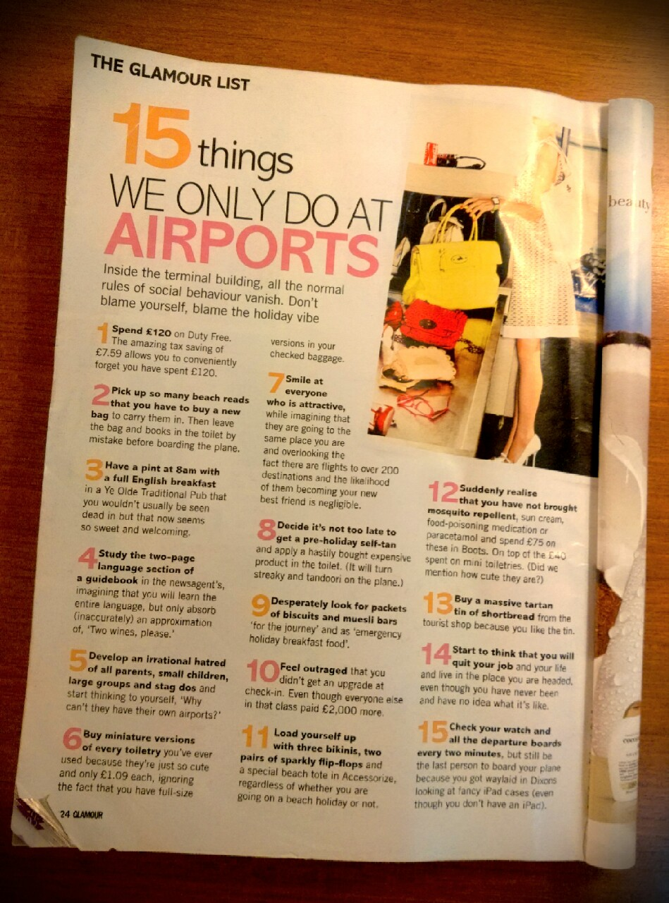 Womens magazine travel advice