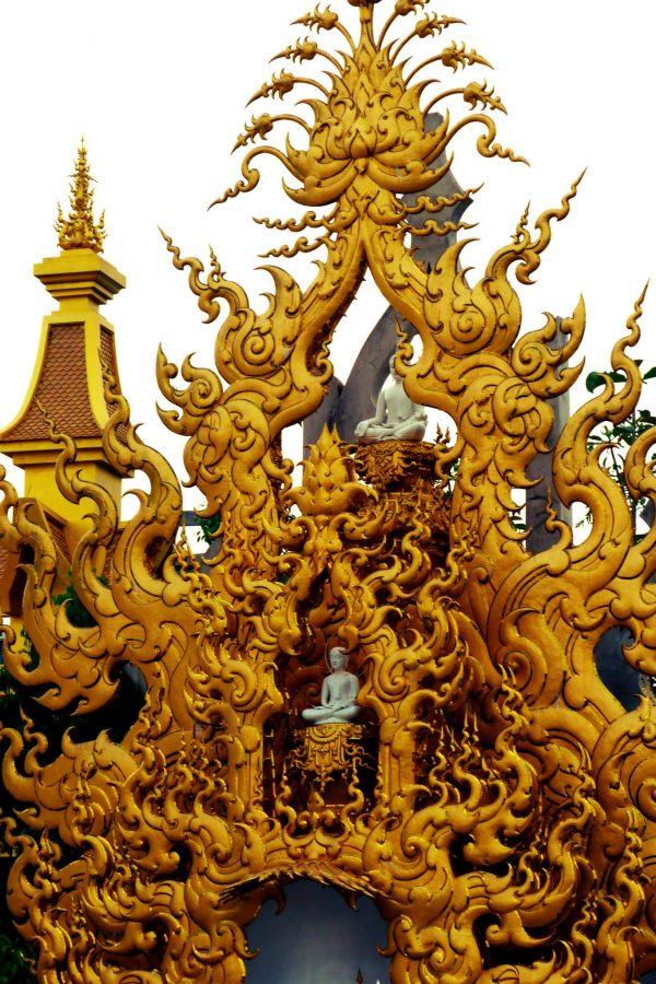 Wat Rong Khun White Temple Thailand Gold Gate