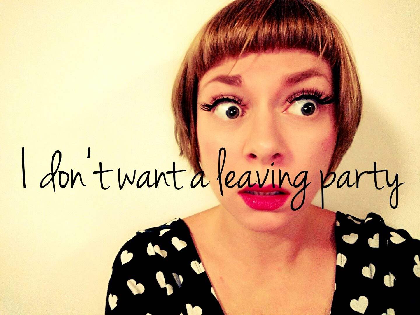I don't want a leaving party