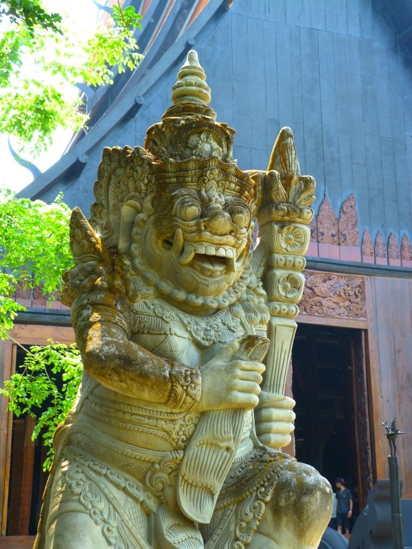 The Black Temple Chiang Rai Thailand Statue
