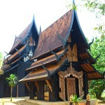 The Black Temple Chiang Rai Thailand Entrance
