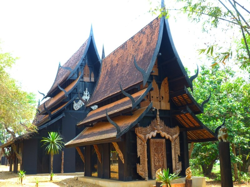 The Black Temple Chiang Rai Thailand Entrance