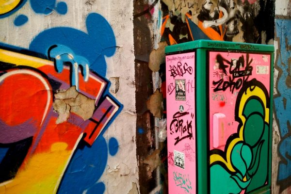 Box Street art in Shanghai