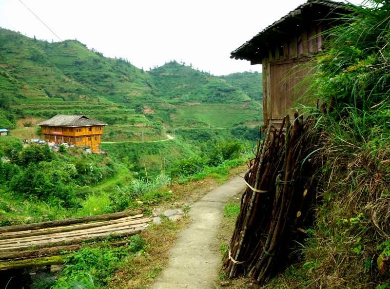 Trail to Pingan from Zhong Lu Village