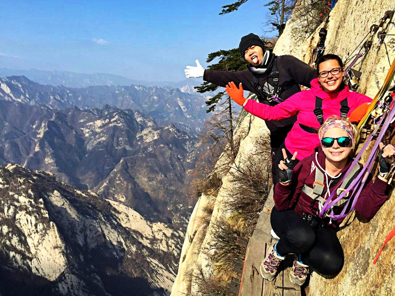 Hiking Huashan Mountain