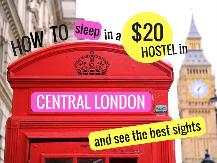 Hostel in Liverpool Street London
