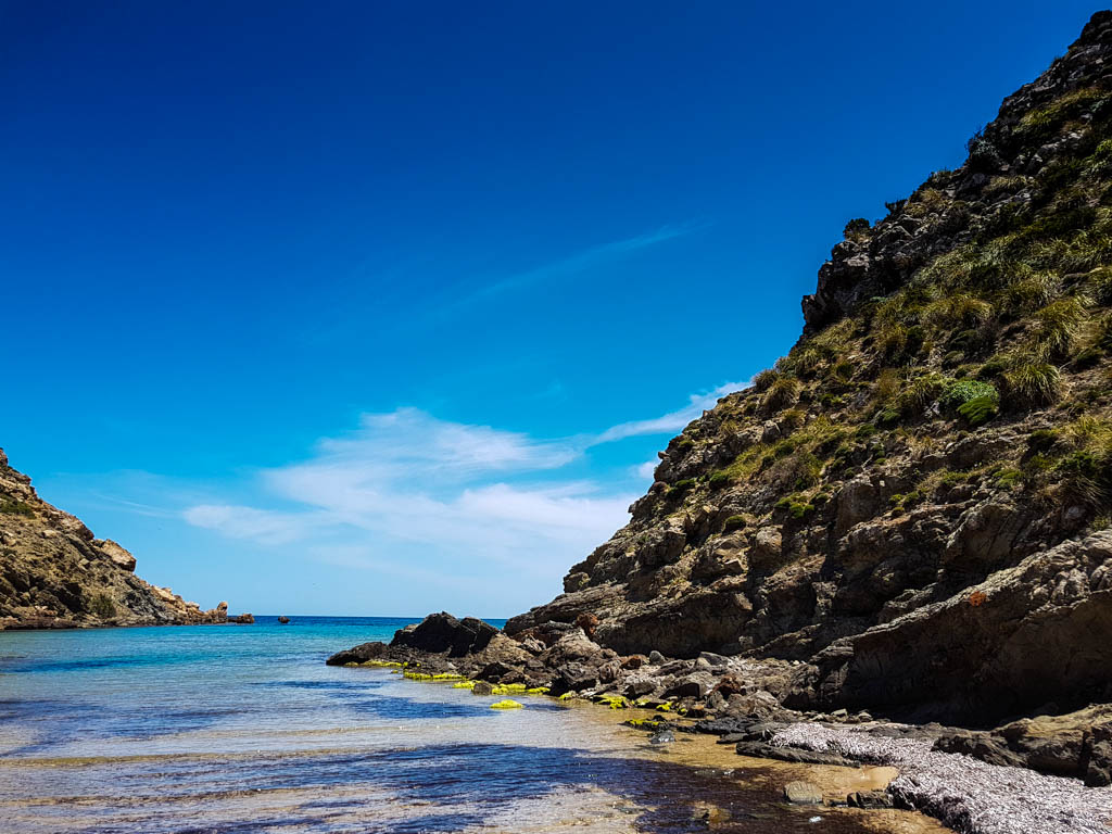 Walking in Menorca on the Cami De Cavalls and coming across secluded beaches like this!
