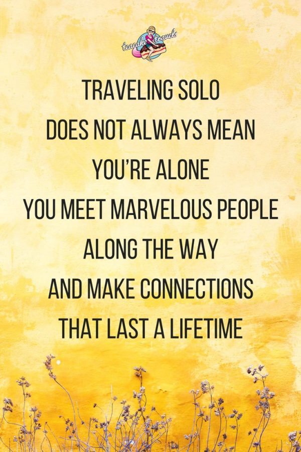 Inspirational solo female travel quotes about traveling alone