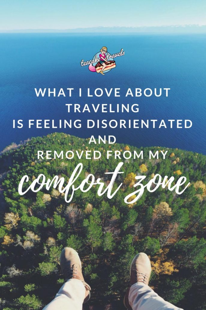 "Inspirational Solo Female Travel Quotes by Women on adventure. strength and being kickass: ""One thing that I love about traveling is feeling disoriented and removed from my comfort zone"" - Sarah Glidden"