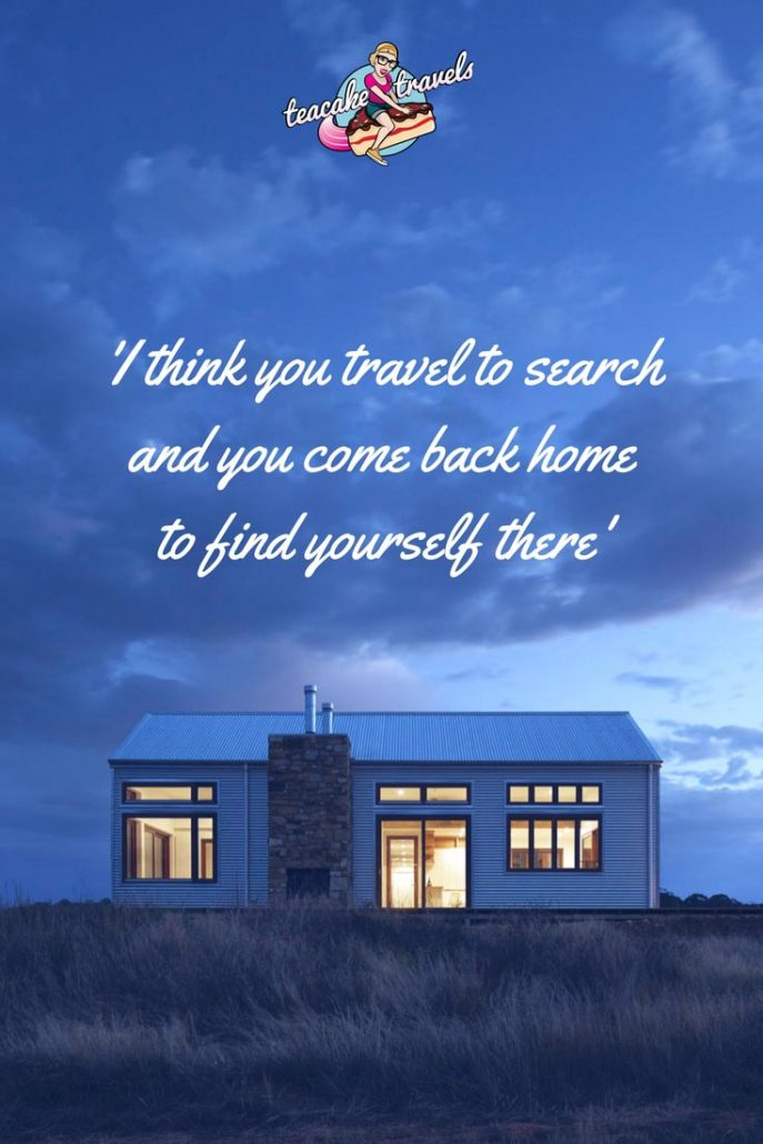 "Inspirational travel quotes about life and love: ""I think you travel to search and you come back home to find yourself there"" - Chimamanda Ngozi Adichie"