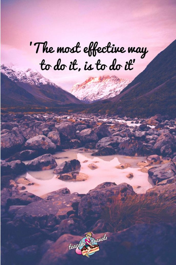Inspirational travel quotes about life and love: 'The most effective way to do it, is to do it' - Amelia Earhart