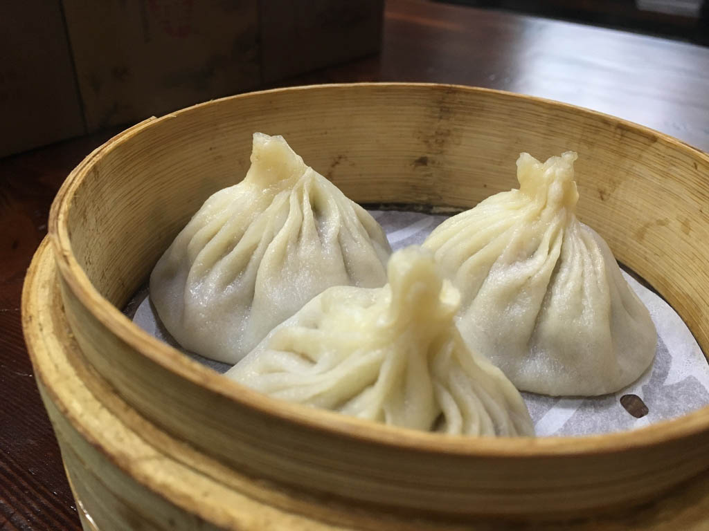 Beijing Duck Dumplings on a plate