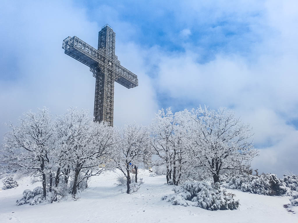 The Skopje Millenium Cross on Mount Vodno