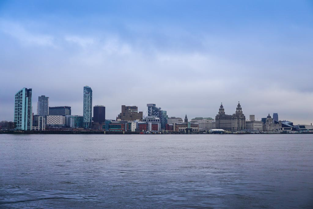 Liverpool's skyline along the River Mersey