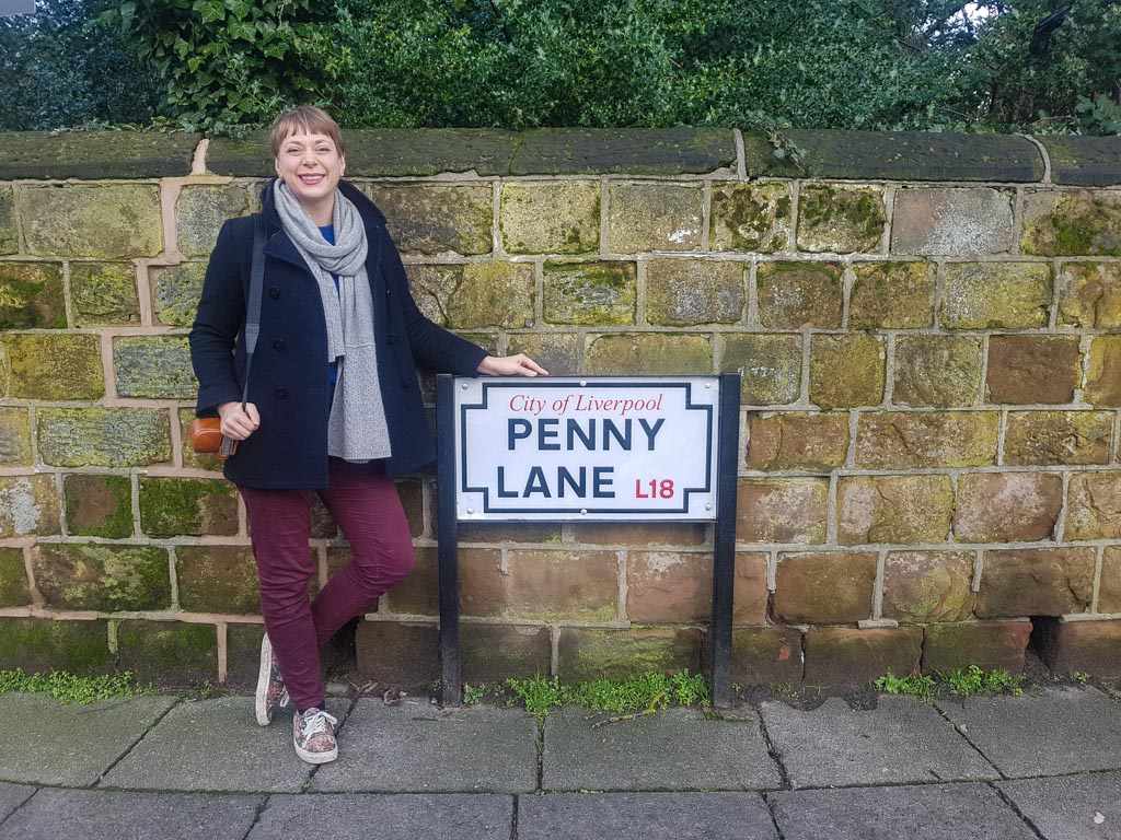 Visit Liverpool and see Penny Lane on the Beatles Magical Mystery Tour Bus
