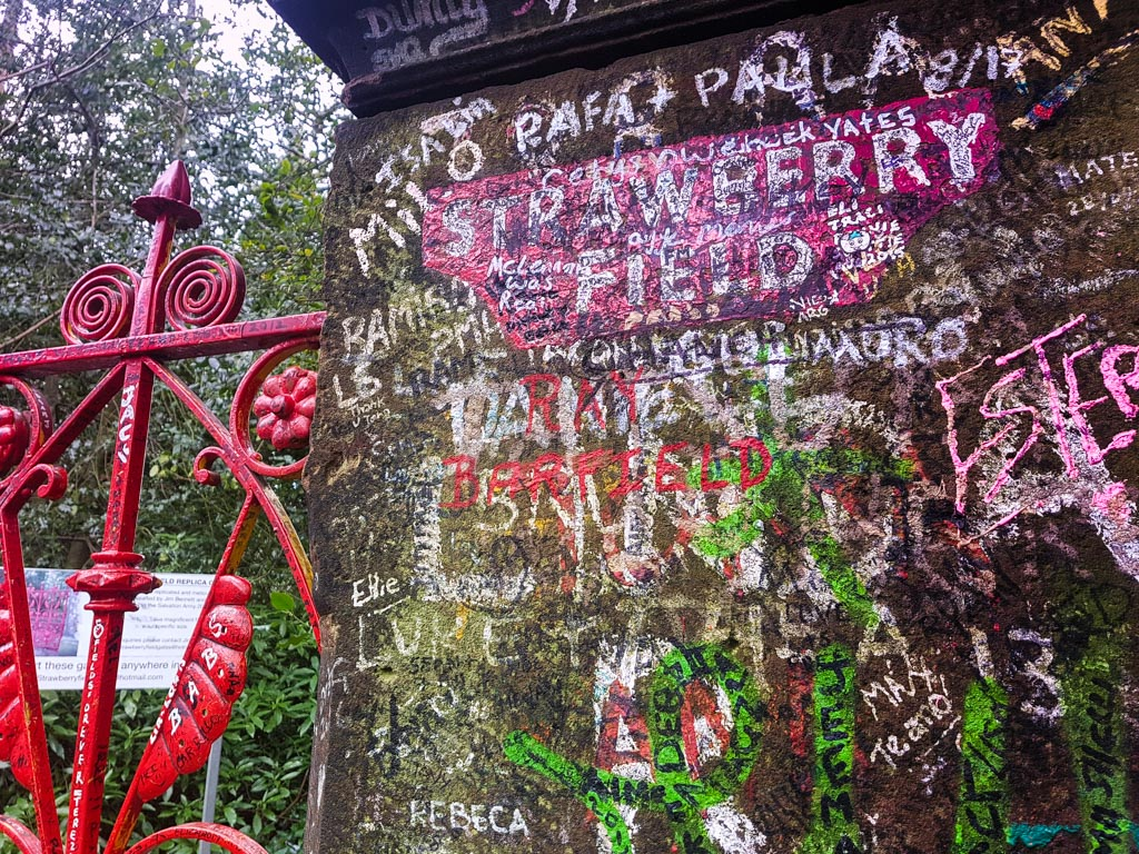 Visit Liverpool to see Strawberry Fields on the Beatles Magical Mystery Tour Bus