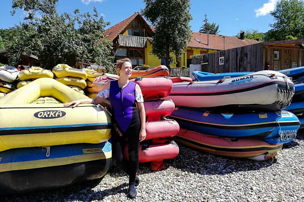 Rafting in Bela Krajina Slovenia
