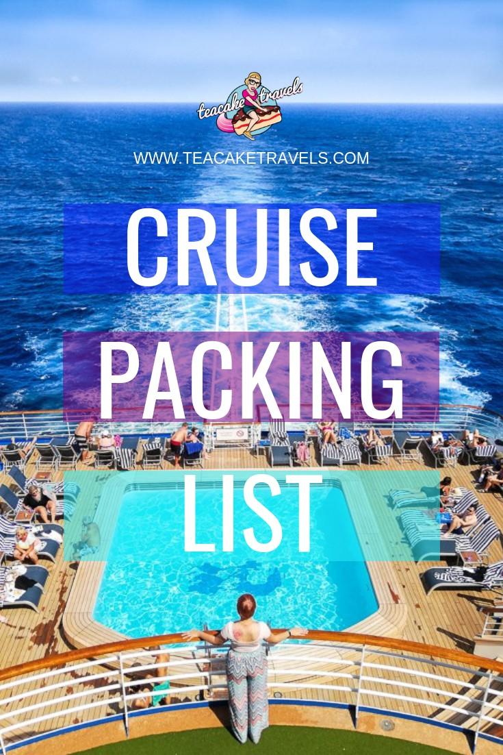 Princess Cruise Packing List