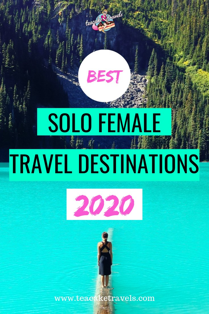 Dreaming of traveling solo? You can do it girl! Here are my top 2020 Solo Female Travel Destinations. Just click on the pin to go to my Teacake Travels blog post so you can start planning. There's also a FREE cheat sheet you can download to make your trip planning as easy as possible woohoo! #solotravel #solofemaletravel #solofemaletraveldestinations #solotravelfemale #solotraveltips #solotraveller #traveldestinations #travelinspiration #travelinspired
