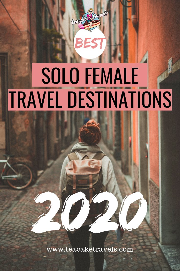 What are the best solo female travel destinations in 2020? Click on this pin to head to the Teacake Travels blog to find out my favourite destinations for solo women for EVERY month of this year. Get travel planning and start making your travel bucket list a reality! #solotravel #solofemaletravel #solofemaletraveldestinations #solotravelfemale #solotraveltips #solotraveller #traveldestinations #travelinspiration #travelinspired