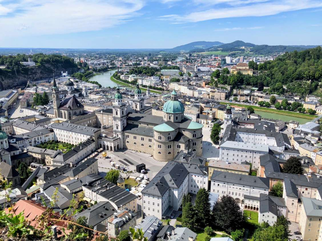 Bird's eye view of Salzburg in Austria
