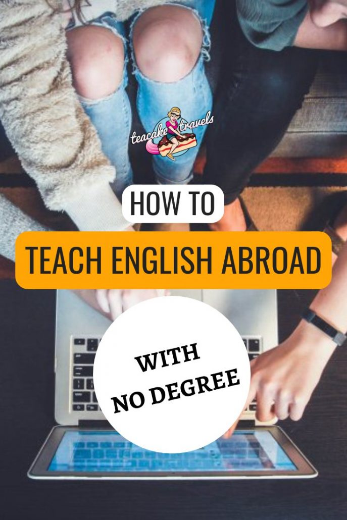 Can you teach English abroad without a degree? Yes you can! Teaching English abroad without a degree is very much possible! Click on the pin to find out where you can teach and also what qualifications you can gain to still get the best job and experience without a degree! #tefl #esl #teachenglish #travel