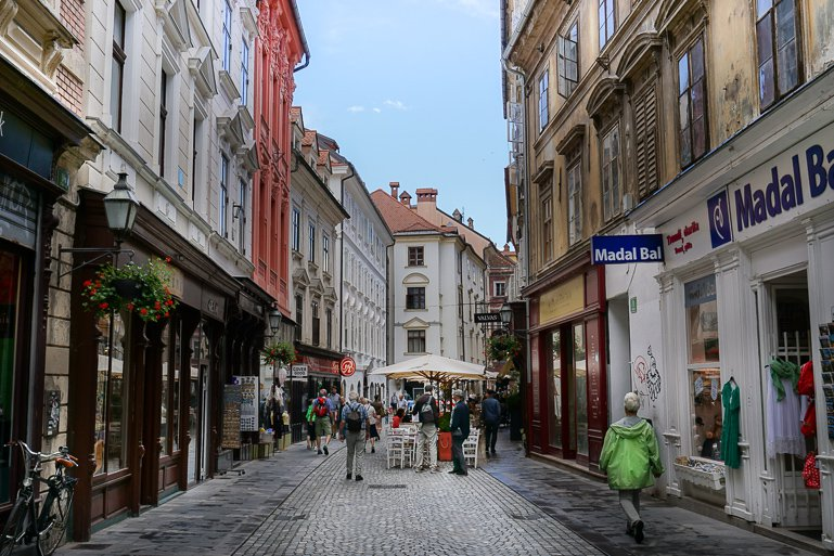 The streets of Ljubljana Slovenia
