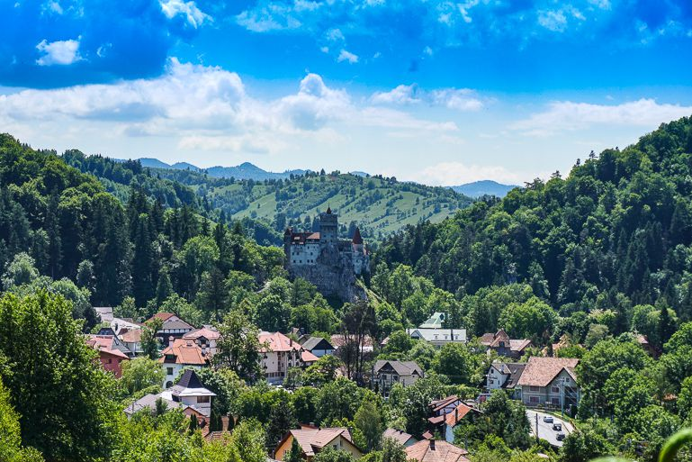 Visit Romania and go to Bran Castle to see Dracula's Castle