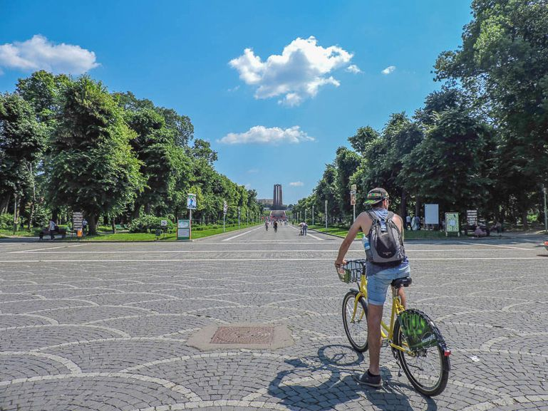 Discover Bucharest Romania points of interest on a bike