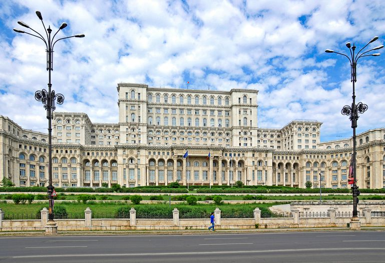 Parliament Building is one of the big Bucharest landmarks