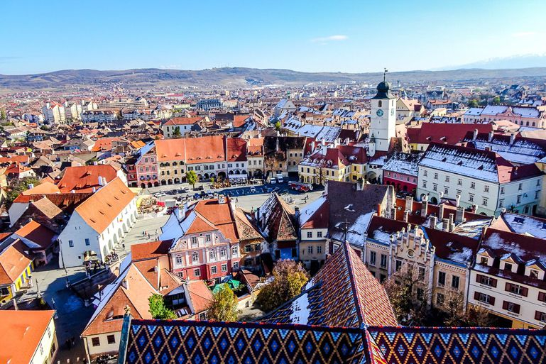 Things to do in Transylvania include visiting Sibiu town!