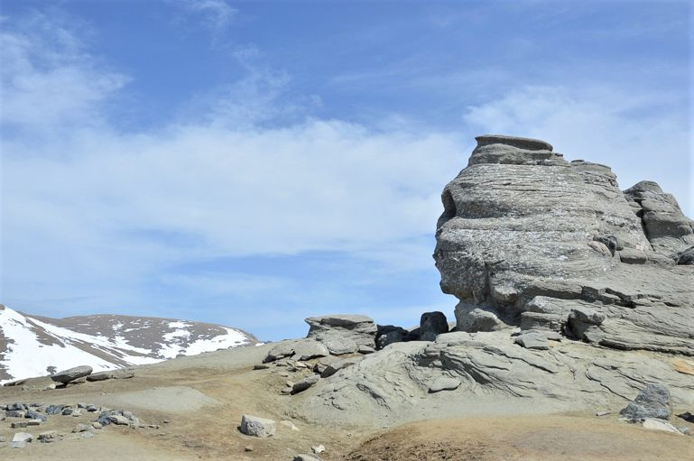 The Sphinx at Bucegi mountains in Romania