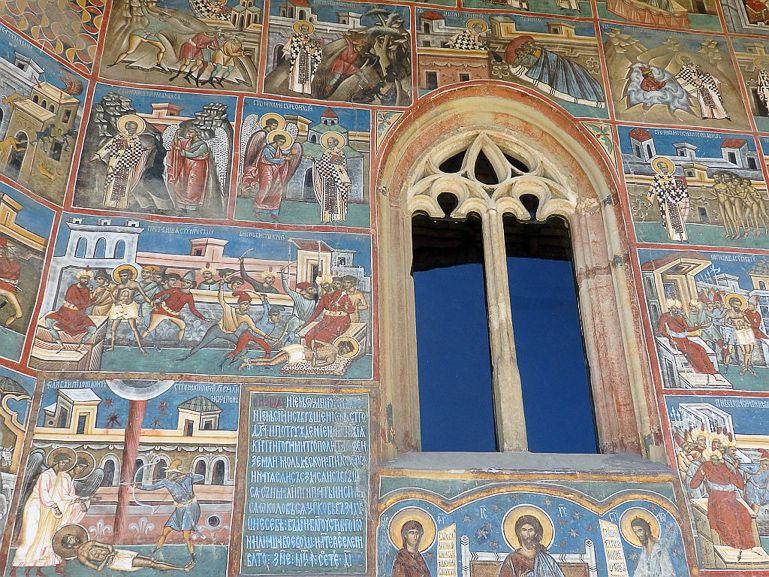 Voroneţ monastery in Moldavia Romania