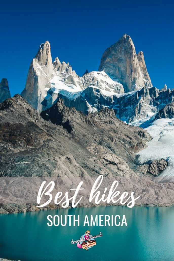 Going on a South America travel hiking trip? You need to make the most of these American mountains! Here are the best hikes in South America you must try. #hikingtrails #hiking #trek #southamericatravel #southamerica #patagonia #chile #peru #colombiatravel
