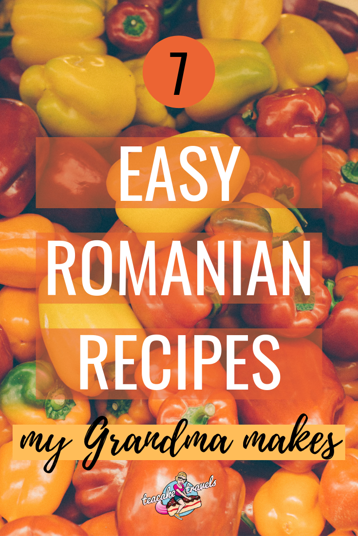 7 Easy Romanian recipes my grandma makes! Recipes straight from my grandmother's recipe book including quince stew, stuffed bell peppers and more!