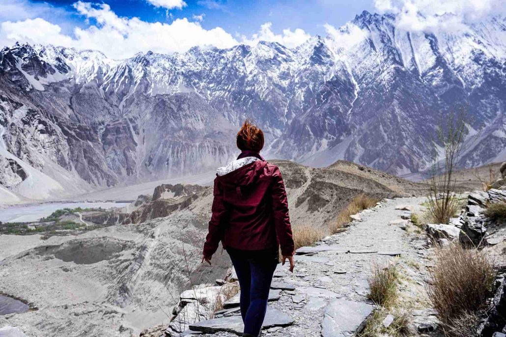 Trekking in Pakistan along the Passu Glacier in North East Pakistan
