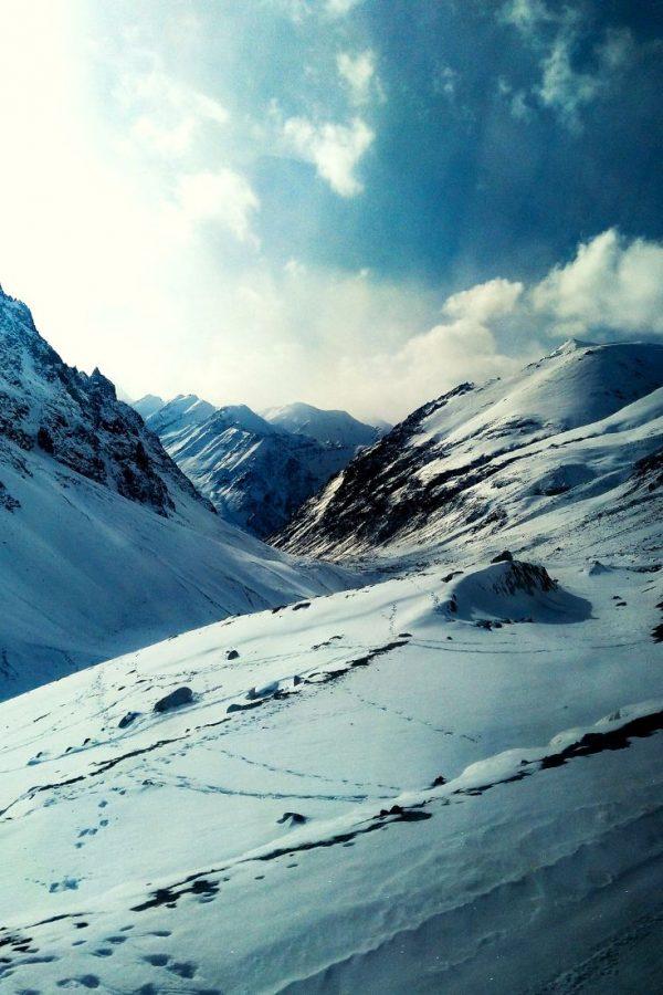 Pakistan Mountains at the Khunjerab Pass China-Pakistan Border
