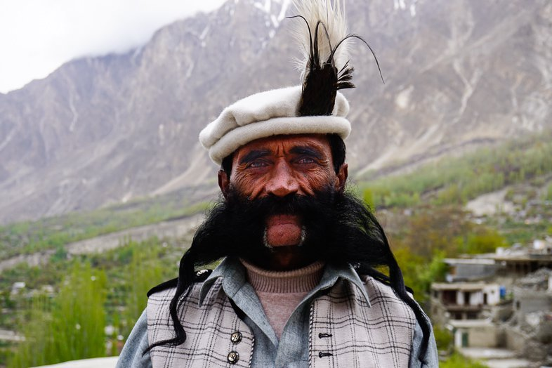 The guard of Baltit Fort in Karimabad, Hunza.