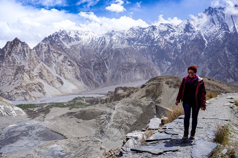 Passu Glacier / White Glacier in Hunza Pakistan