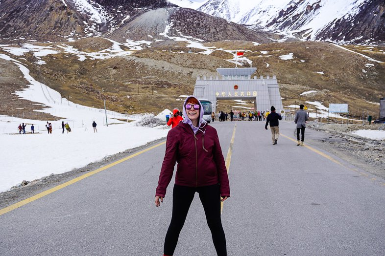 Khunjerab Pass on the Pakistan China border