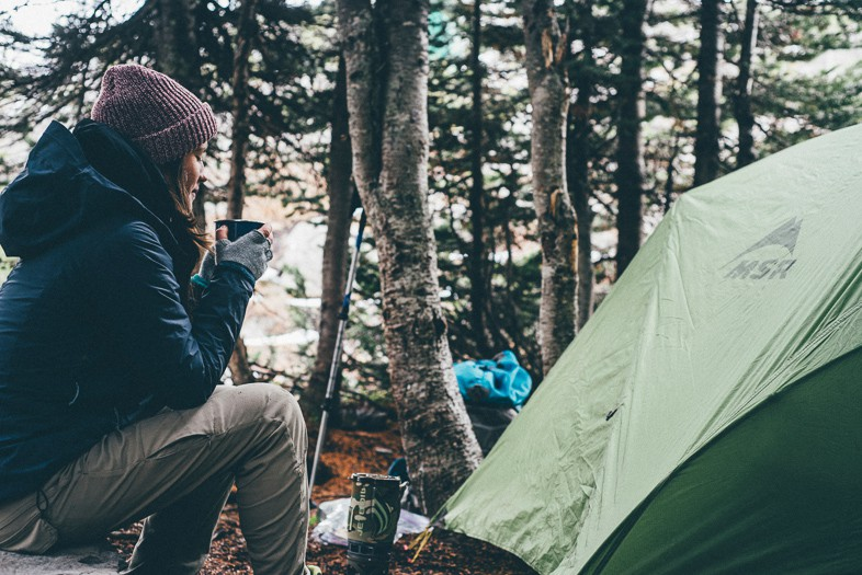 Camping alone whilst on your period is easy with the right products