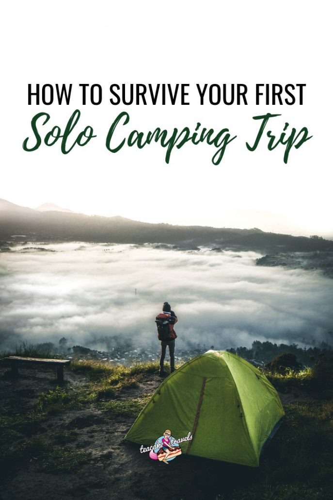 Are you a solo female who wants to go camping alone? 🏕️🏕️🏕️ BUT maybe: 😕 You're worried about your personal safety 😕 How to carry out specific camping skills 😕 Whether you're even going to enjoy it by yourself? Click on the pin to read my post about how to survive your first camping trip alone! #camping #campinghacks #campingtips #campingtipsandideas #solofemaletravel #solotraveltips #wildcamping #campinggear