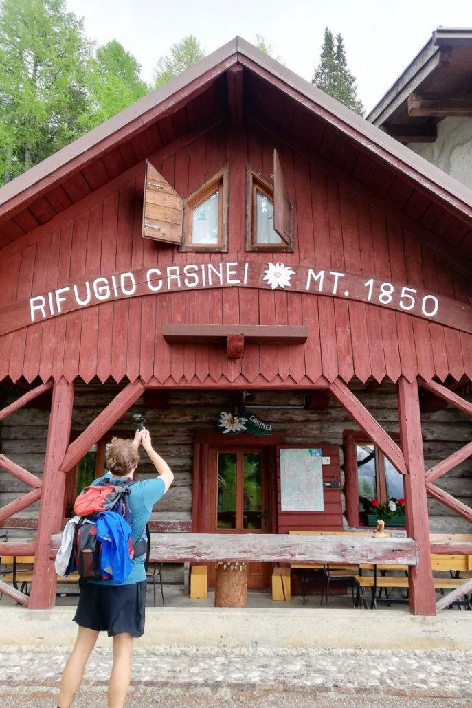 Rifugio Casinei in the Dolomiti di Brenta Italy
