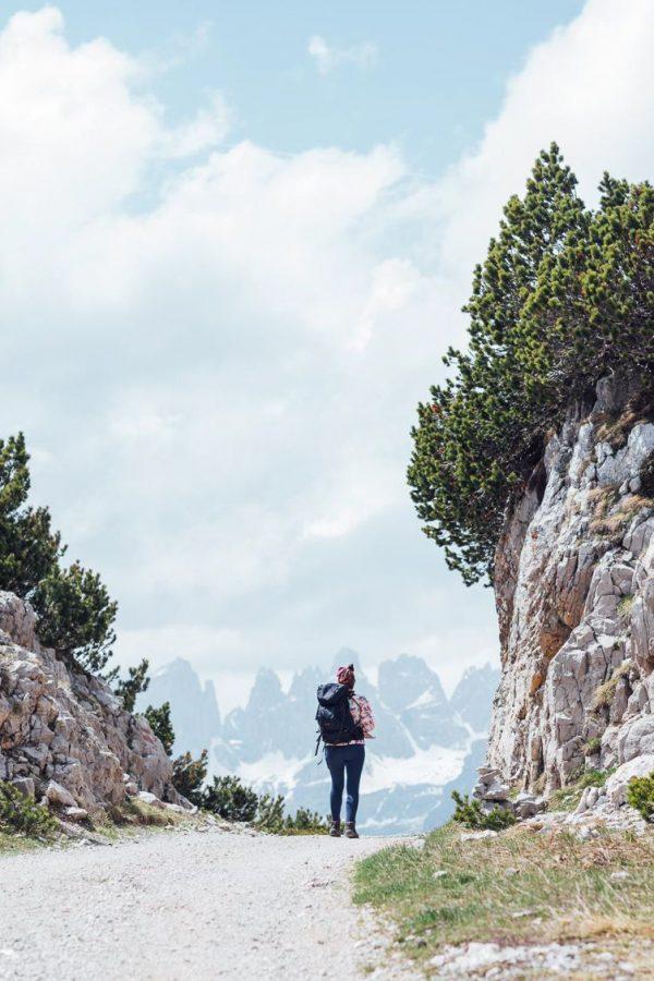 Hiking to Rifugio Albi de Mez on the Paganella Mountains in Trentino Italy